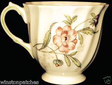 "ROYAL DOULTON CLOVELLY FOOTED DEMITASSE CUP 2 1/2"" PINK FLOWERS GREEN LEAVES"