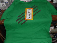 ANI-MERCER T-SHIRT GREEN WITH SHORT SLEEVES japanese words