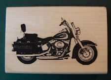 """Motorcycle line art-rubber stamp NEW 1.7x3"""""""