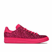 Womens adidas Originals Stan Smith Glitter Trainers In Shock Pink / Clear Purple