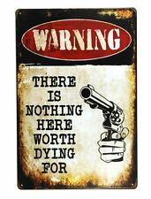 Warning No Trespassing Funny Tin Sign Bar Pub Garage Home Art Wall Decor Poster
