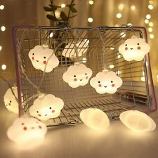 LED Warm White Cute Cloud Small Night Light String Lights Halloween Christm M2V9