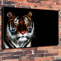 "Stunning Tiger Wall Art Printed Box Canvas Picture A1.30""x20"" 30mm Deep Abstract"