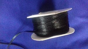 5 metres of 3mm Black satin ribbon