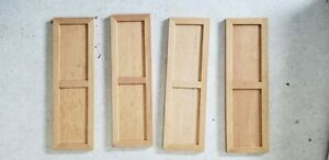 Dollhouse Miniature Wood Panel Set of Four 5x1.5""