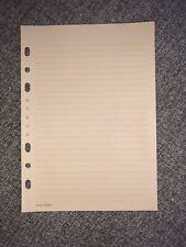 Authentic RARE HTF LOUIS VUITTON Agenda GM Brown Colored Inserts X5 Sheets