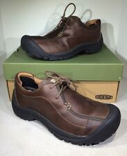 KEEN Portsmouth II Men's Size 13 Dark Earth Leather Lace Up Loafer Shoes X4-948