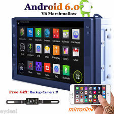 Quad Core Android 6.0 GPS Double 2 Din 7'' In-Dash Car Radio Stereo BT WIFI+Cam