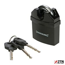 Silverline 245032 Close Shackle Plastic Armoured Aluminium Padlock 61mm