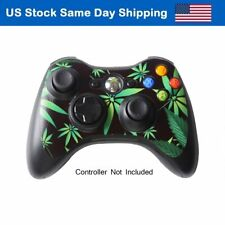 Decal Cover Skin Leather Sticker for Xbox 360 Controller Accessory Weeds Black