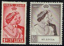 ST LUCIA 1948 SG144-45 KGVI SILVER WEDDING  -  MM
