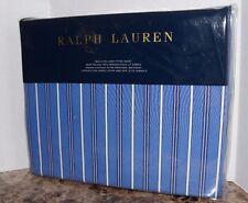 Ralph Lauren TWIN FITTED SHEET Cambridge Stripe Off Sunset Blue/White all Cotton