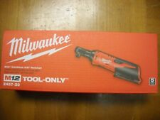 "MILWAUKEE 2457-20 M12 12V 12 Volt Lithium-Ion Cordless 3/8"" Ratchet NEW"