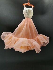 Altes Barbie Pfirsichblüten Peaches and Cream Kleid Mattel 80iger Vintage