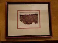 Framed Pre-Columbian Chancay Textile Fragment Peru