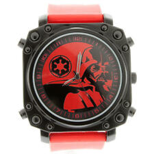 STAR WARS STARWARS DISNEY MEN'S WOMEN'S ANALOG WATCH RED BLACK RUBBER HUGE TIME
