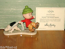 Lenox Peanuts Linus Snoopy The Blanket Bandit Figurine MSRP $92 New in Box