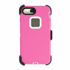 For iPhone 6s+/7+/8+Plus Universal Defender Case w/Clip fit Otterbox Pink White