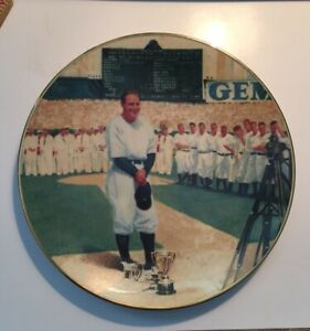 """Lou Gehrig Collector Plate #1337A 8 1/4"""" Across"""