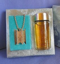 Torch Song Cologne Solid Perfume Necklace Set Mary King Vintage J R Watkins 2oz