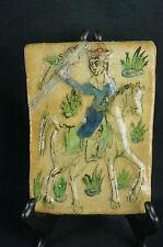 "Great Antique european tile, hand painted, repair 7"" [Y7-W6-A9-E9]"