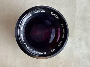 Vivitar 70-150mm F3.8 lens with Olympus OM fit vintage with macro focusing zoom