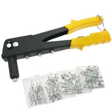 POP RIVET GUN + 60 RIVETS AND NOZZLES - 4 DIFFERENT SIZE RIVETS INCLUDED