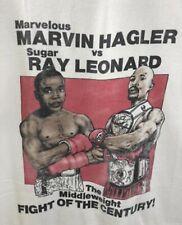 Vintage Marvelous Marvin Hagler VS Sugar Ray Leonard Middleweight Boxing Shirt
