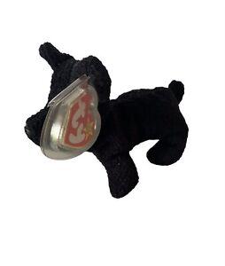 ❤️❤️❤️ TY Beanie Original Babies 1996 Scottie - Scottish Terrier -w/ Tag Errors