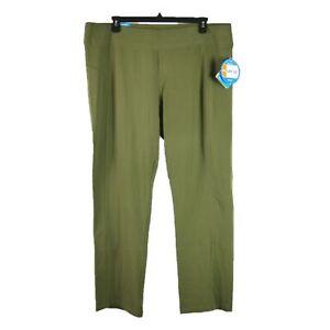 Columbia Straight Leg UPF 50 Outdoor Hiking Pants Womens Plus Size 2X Green NEW