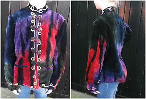 Kids' Short Embroidered Tie-Dye Velvet Jacket Festival Hippy Bohemian 8-10 yr