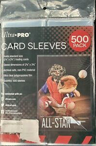 Ultra PRO Clear Card Sleeves 500 Ct   Penny Sleeves For TCG Sports Pokémon Cards