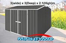 Garden Shed 3x3 Storage Shed,Tool Sheds, Gable Roof Slate Grey