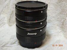 Lot de trois Jessop Tubes d'extension. Minolta MD baïonnette Ajustés. 31 mm 21 mm 13 mm