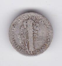 1917 MERCURY SILVER DIME United States America Coin Z-943