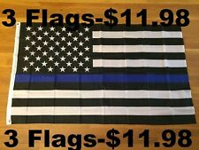 New listing 3 Flags - Thin Blue Line American Flags Blue Lives Matter Law Enforcement 3x5ft