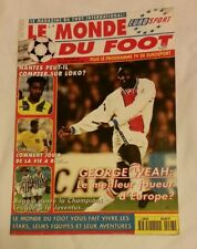 """1996 GEORGE WEAH COVER """"LE MOND DU FOOT"""" FRENCH SOCCER MAGAZINE: BAGGIO, ROMARIO"""