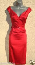 Size 16 Red Pencil Wiggle Cocktail Party Evening Dress Galaxy Dita ~ US 12 EU 44