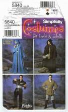 Simplicity Costume Pattern 5840 UC Jedi Wizard Ninja Robe Tunic All Size XS - XL