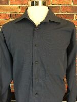 Pronto Uomo Long Sleeve Non-Iron Button Front Casual Dress Shirt Size XL