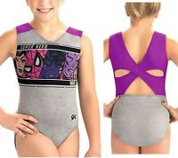 GK Elite Gymnastics Marvel's Super Heroes Unite Leotard (CL) Made in the USA/NWT