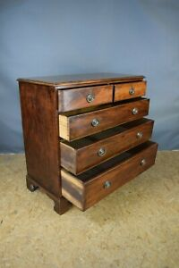 Georgian Chest Of Drawers, Antique Mahogany Chest Of Drawers, Bedroom Furniture