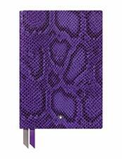 Montblanc Fine Stationery Python Print Unisex Violet Leather Notebook 119644