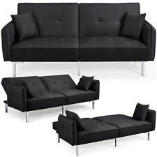 Convertible Sofa Bed Couch Adjustable Backrest Futon Loveseat Sleeper Sofa Couch