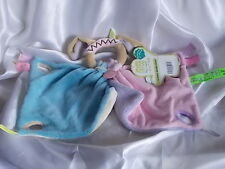 Doudou chien à poignée,mauve et bleu, Doudou et compagnie (cie)