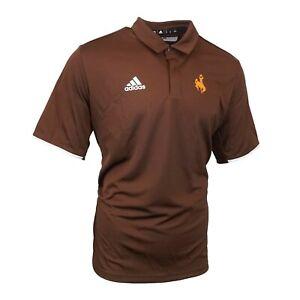 Wyoming Cowboys NCAA Adidas Men's  Team Iconic Climalite Polo Shirt