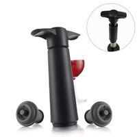 Wein Vakuumpumpe mit 2 Stopfen Vakuumverschluss Weinflaschenverschluss WeinPumpe