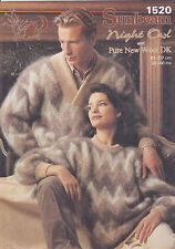 Vintage knitting pattern mohair chevron sweaters 32-46 Sunbeam 1520