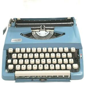 Deluxe 100 Portable Typewriter Portable Case Robins Egg Blue Japan JP-1 Parts