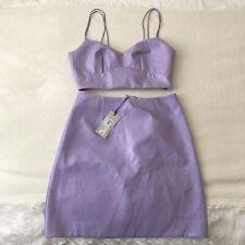 River Island Women's Purple Vinyl Co Ord Size 6